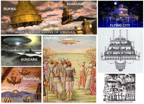 Artist's impressions of Vimanas